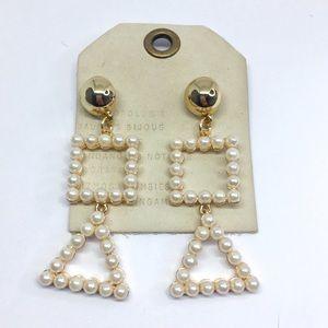 NWT Anthropologie pearl earrings